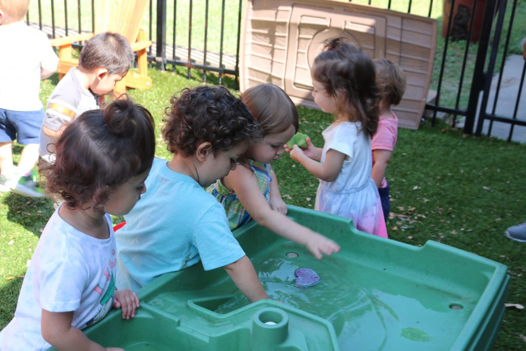Playing at a water table
